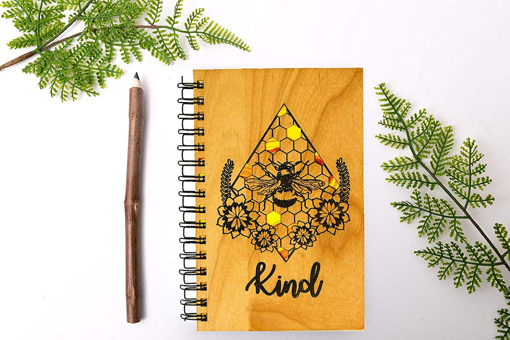 Bee Kind Personalized Wood Journal