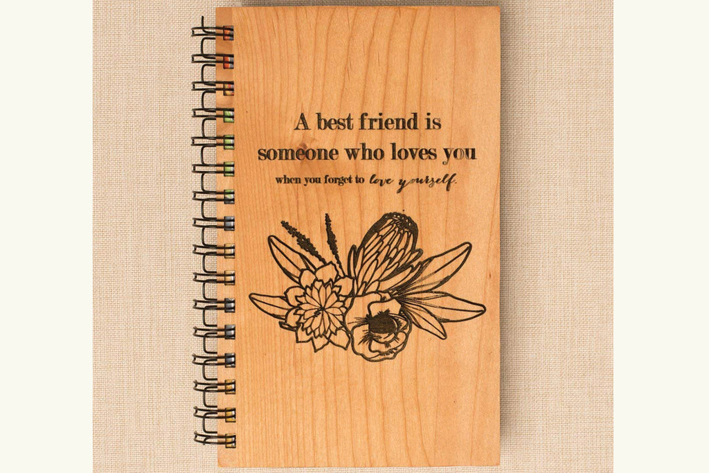 Best Friend Personalized Wood Journal