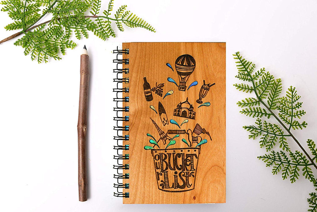 Bucket List Personalized Wood Journal