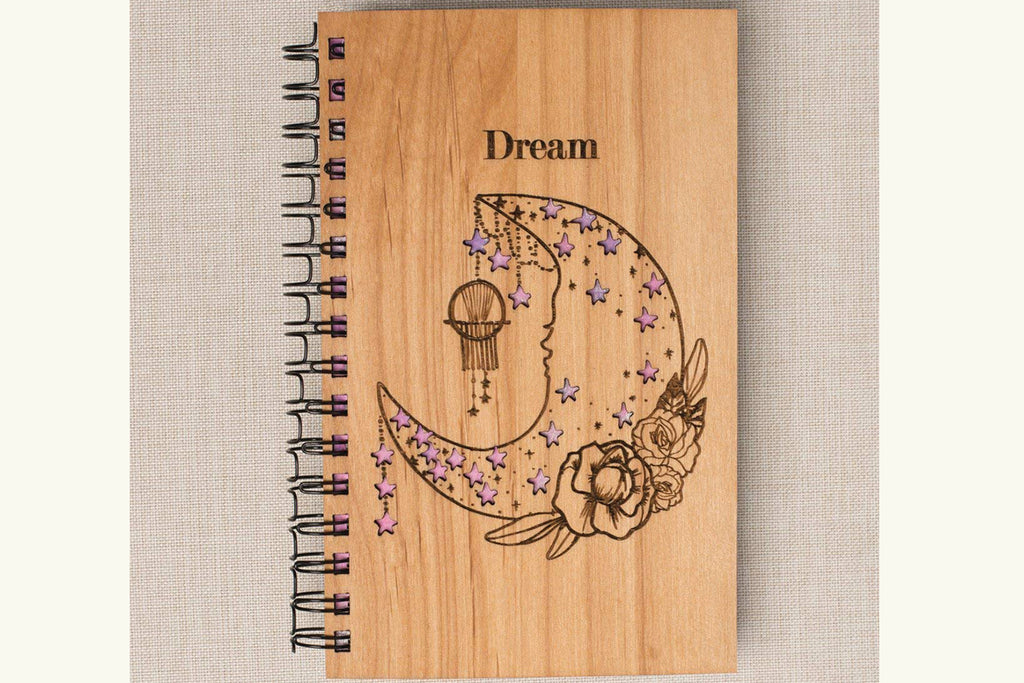 Dream Personalized Engraved Wood Journal