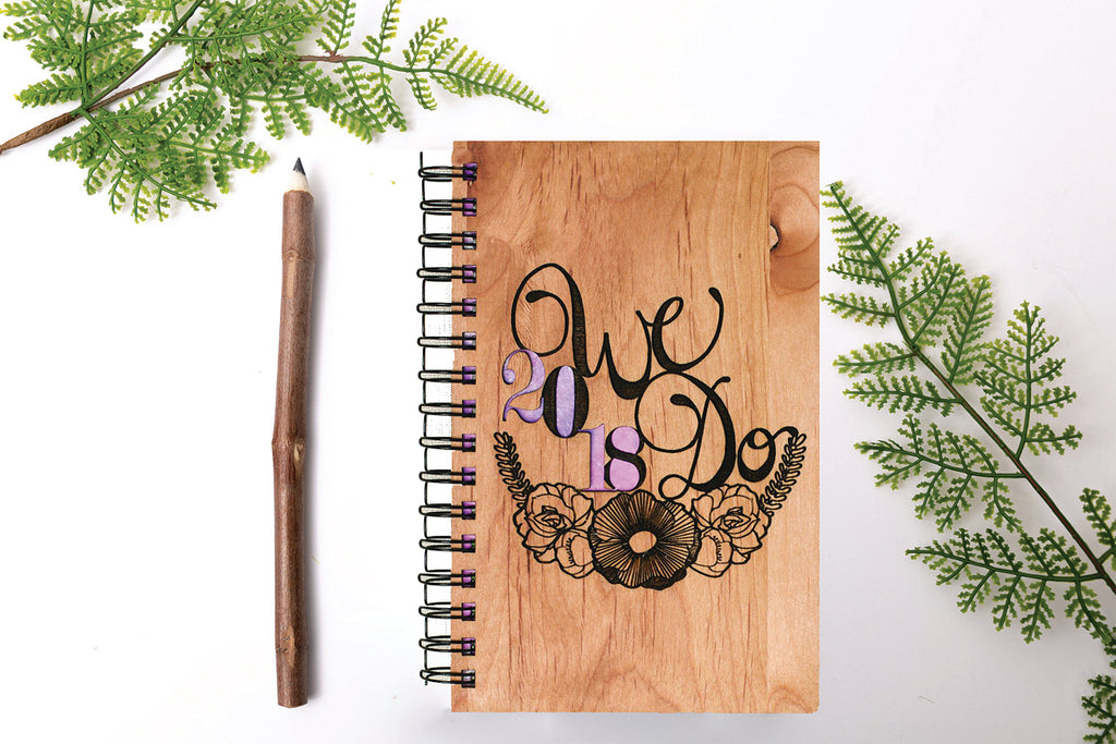We Do, Wedding Personalized Wood Book Journal