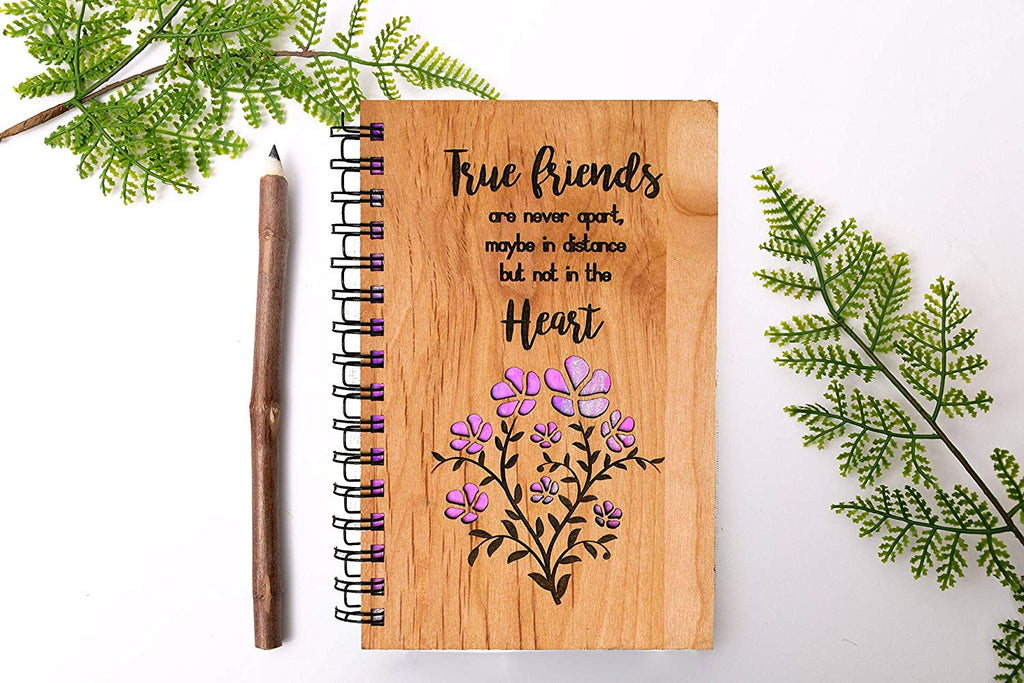 True Friends Personalized Wood Journal