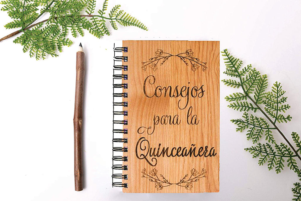 Consejos Para la Quinceanera Personalized Wood Journal