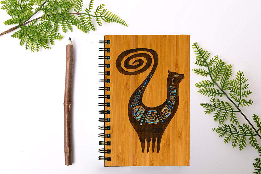 Snooty Cat Personalized Wood Journal