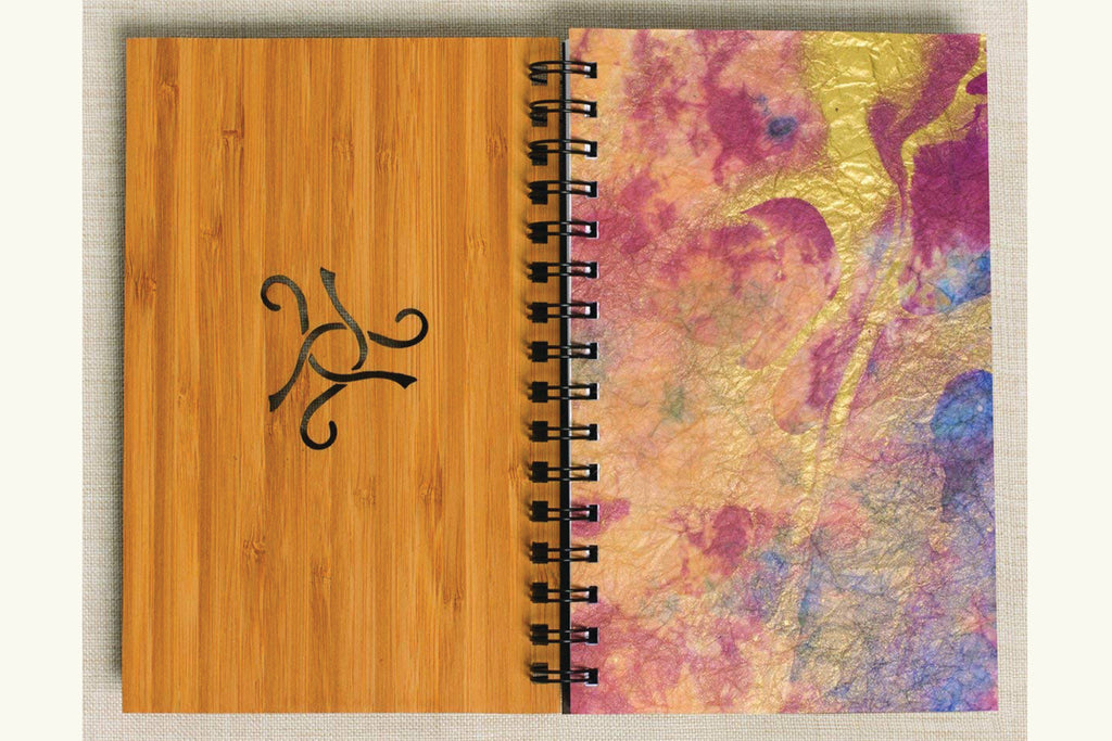 Cat Knot Personalized Wood Journal