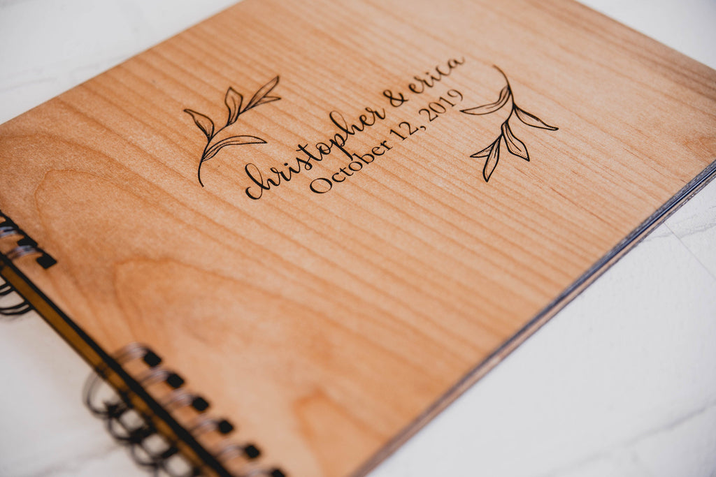 Photo Album or Guest Book - Personalized First Names, Date