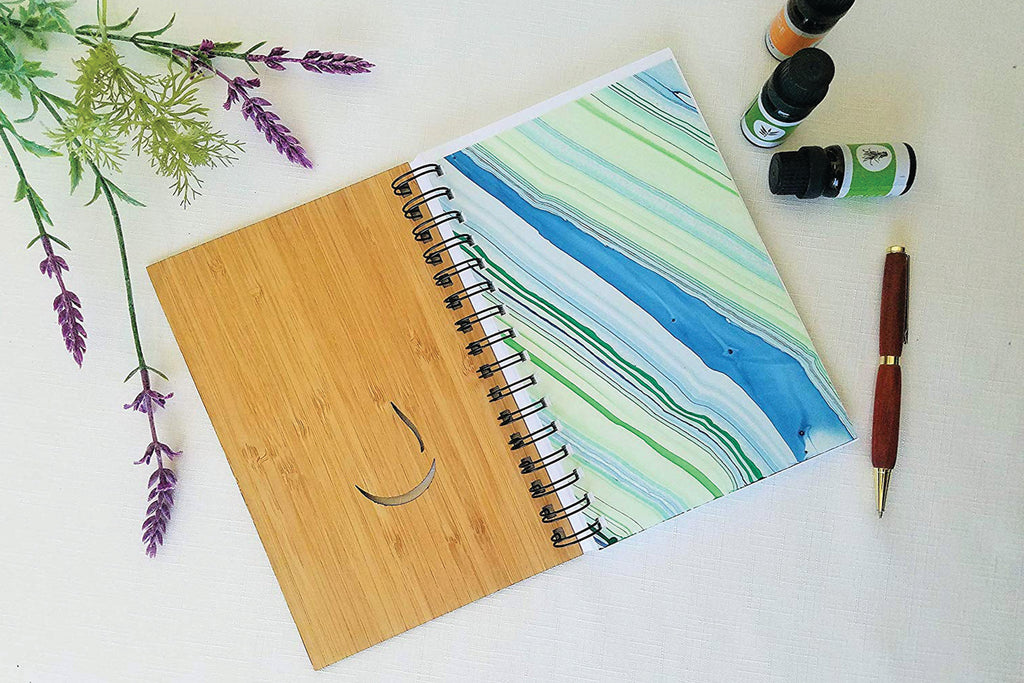 Essential Oil Drop Personalized Wood Journal
