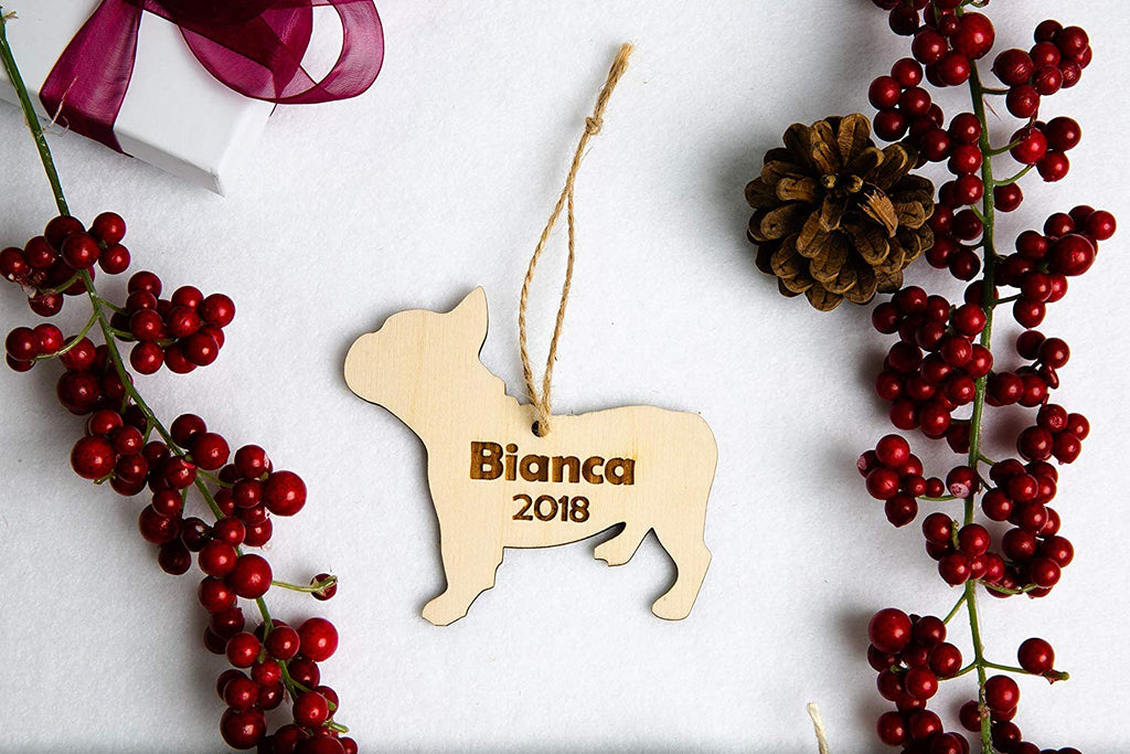 Dog Breed Christmas Ornament- Personalized with Name and Date