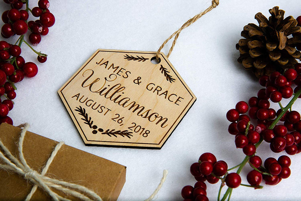 Our First Christmas Ornament - Holly Design, Personalized