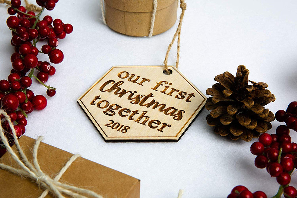 Our First Christmas Together Personalized Christmas Ornament