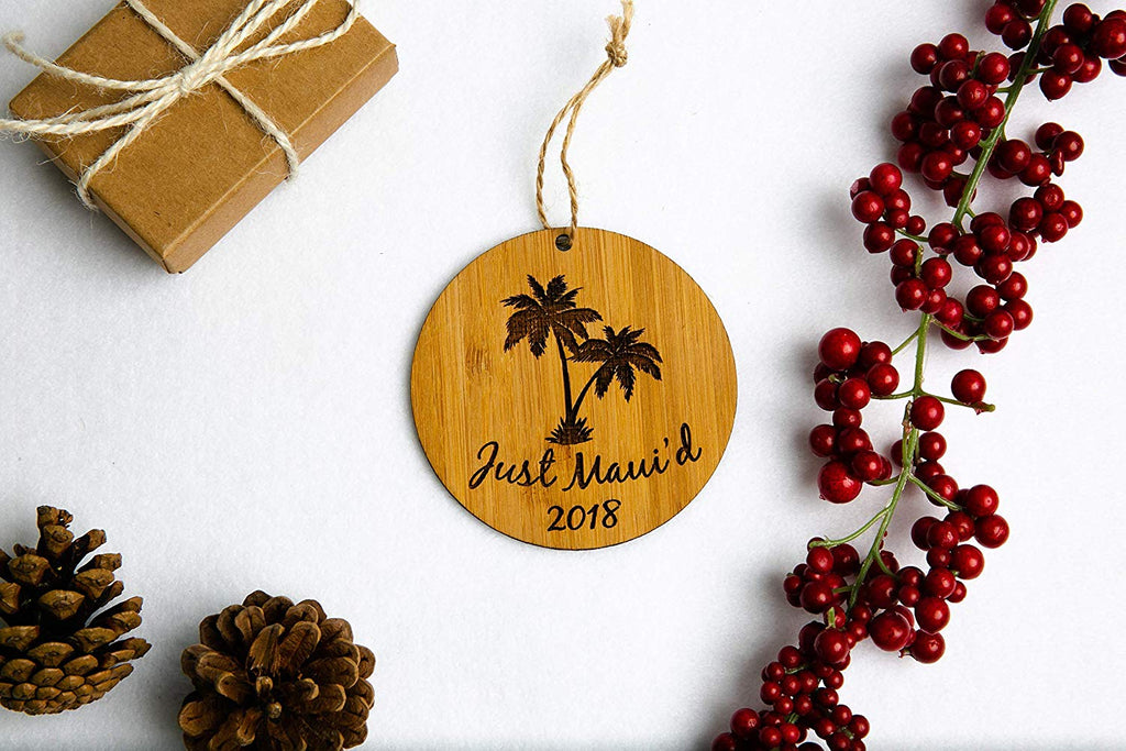Palm Trees Just Maui'd Christmas Ornament or Magnet
