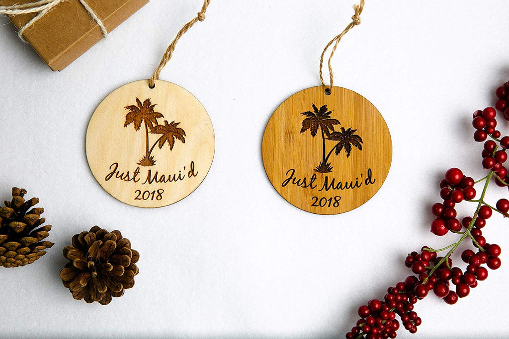 Palm Trees Just Maui'd Christmas Ornament
