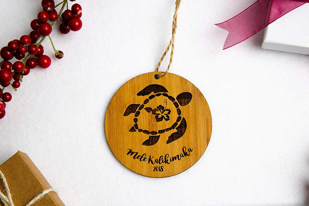 Turtle Mele kalikimaka Christmas Ornament