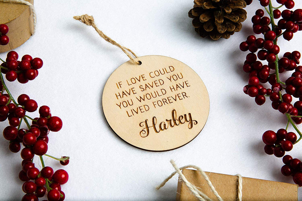 Memorial Christmas Ornament with Custom Quote Text and Name