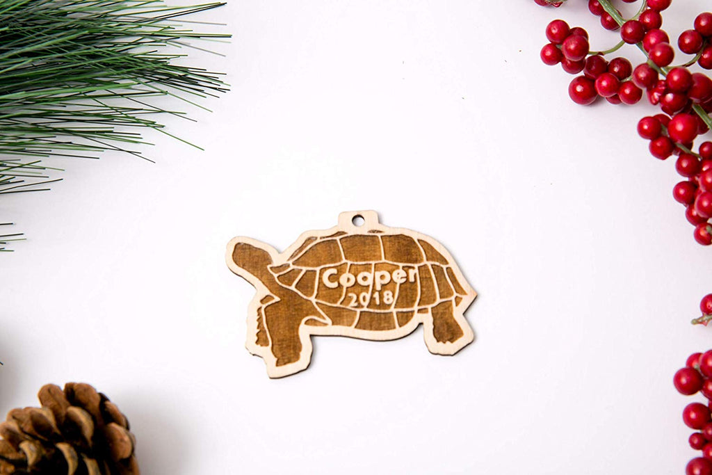 Tortoise Personalized Christmas Ornament or Magnet