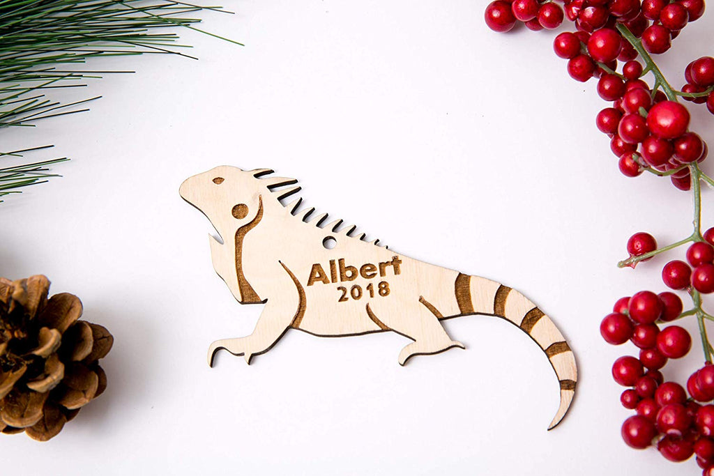 Iguana Christmas Ornament or Magnet - Personalized with Name and Date