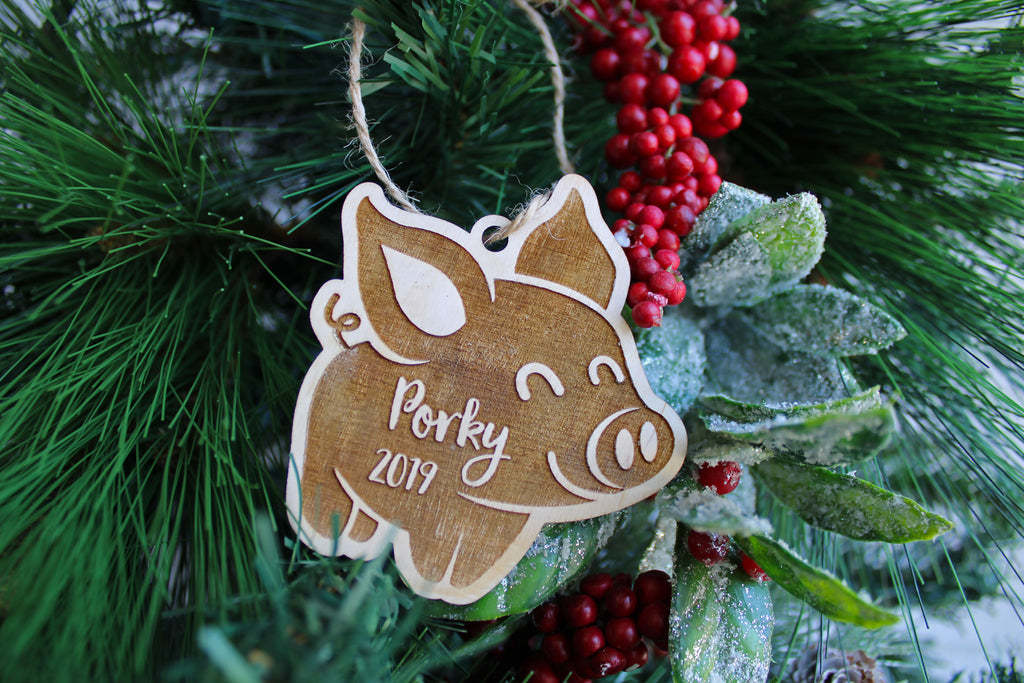 Piggy Personalized Christmas Ornament