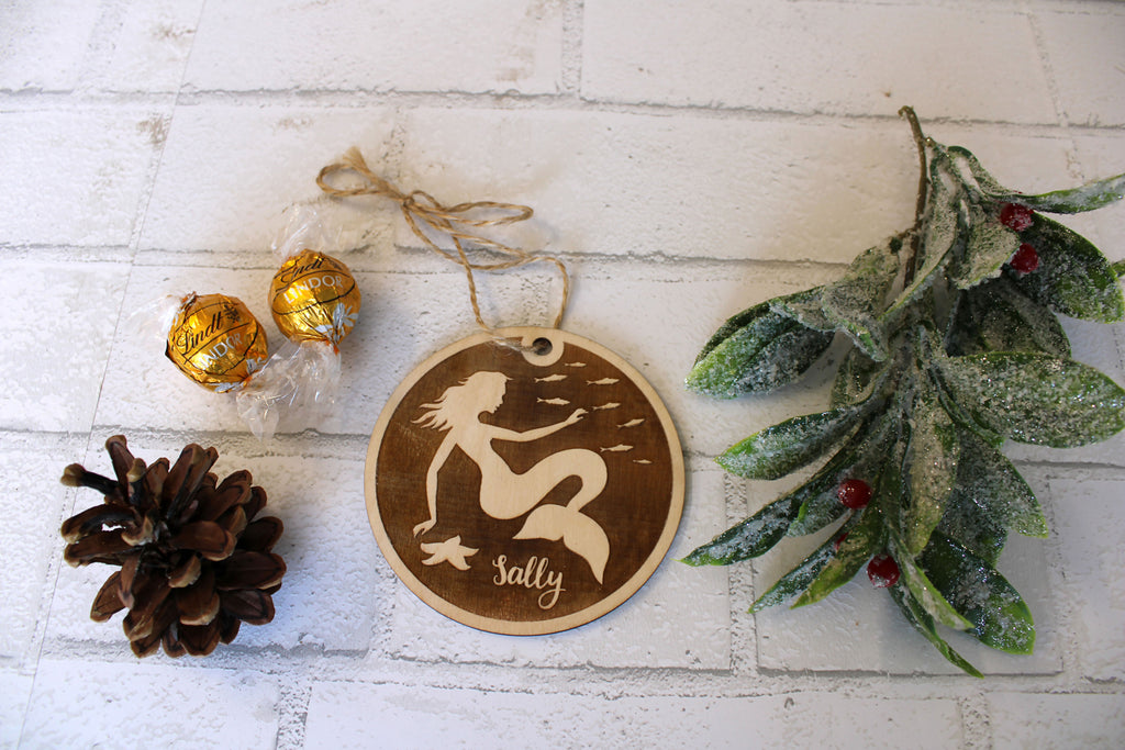 Undersea Mermaid Personalized Christmas Ornament