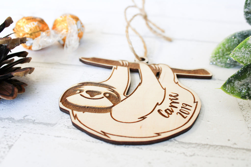 Sloth Personalized Christmas Ornament