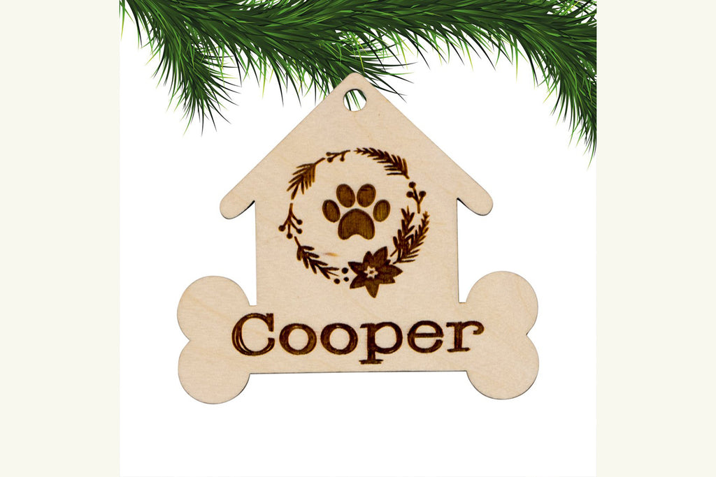 Dog House Personalized Christmas Ornament