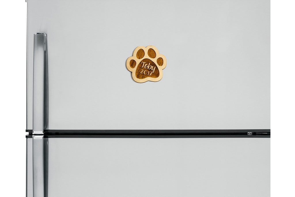Paw Print Personalized Christmas Ornament or Magnet