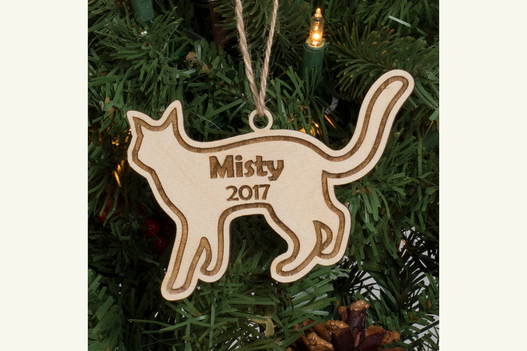 Kitty Cat - Personalized Pet Christmas Ornament or Magnet
