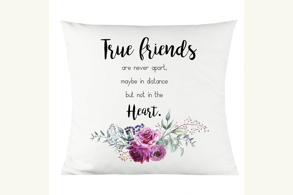 "True Friends 14""x14"" Decorative Throw Pillow"