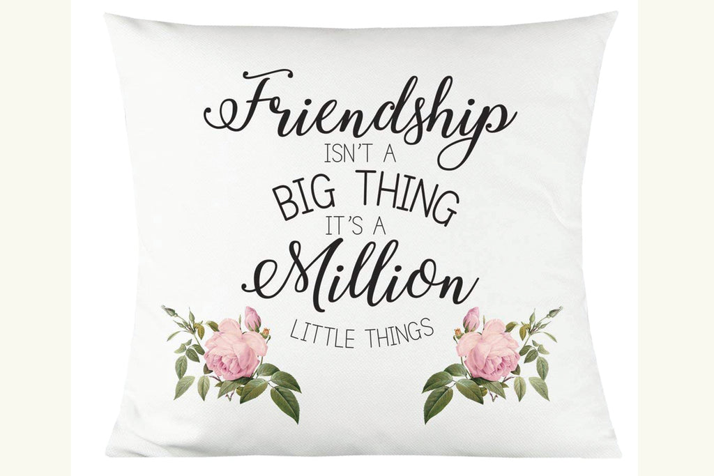"Friendship is a Million Little Things 14""x14"" Decorative Throw Pillow"