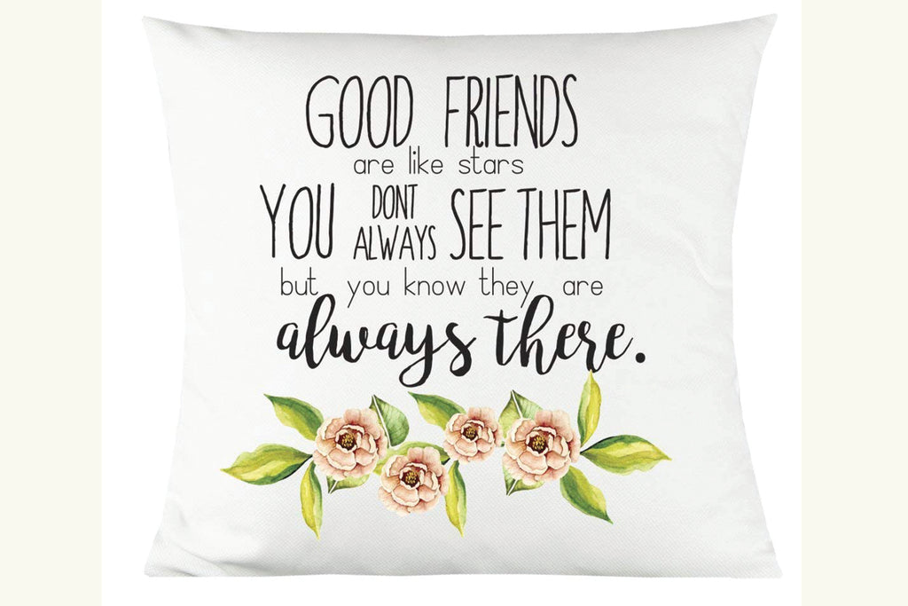 "Good Friends 14""x14"" Decorative Throw Pillow"
