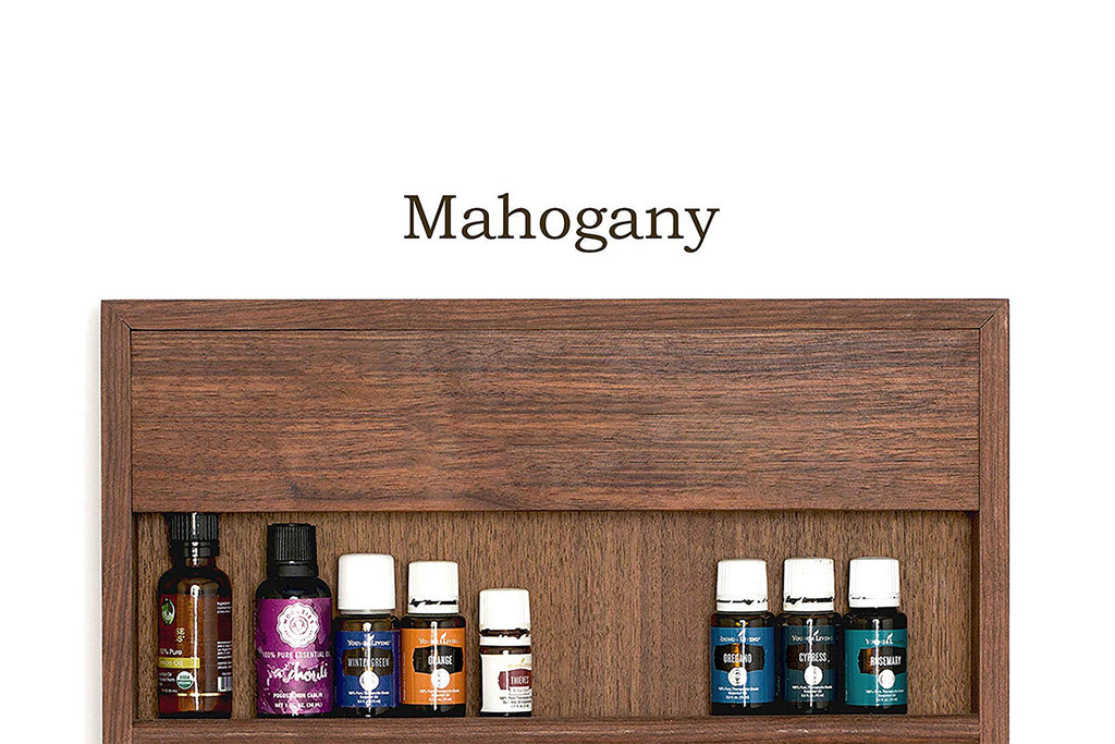 12x12 Engraved Essential Oil Storage Personalized Wood Shelf Rack