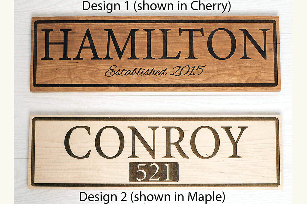Beautifully Handcrafted and Customizable Solid Hardwood Home Address Plaque