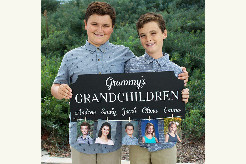Grandchildren Personalized Photo Sign