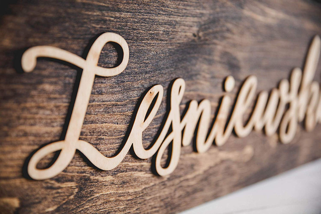 Rustic Wood Personalized Sign - Birch