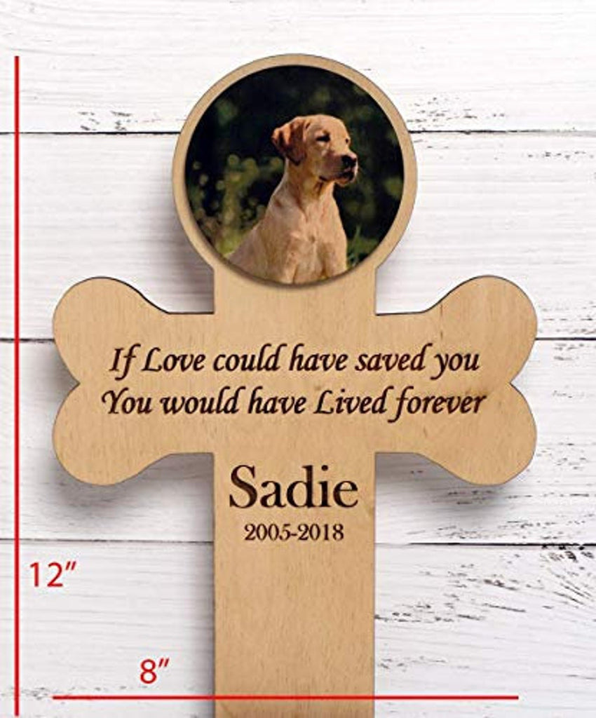 Birch Memorial Personalized Pet Cross - Stand or Wall Mount