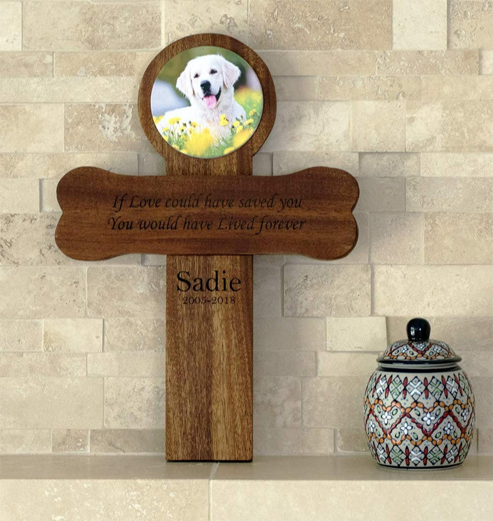 Pet Memorial Cross - Wall Mount, Personalized