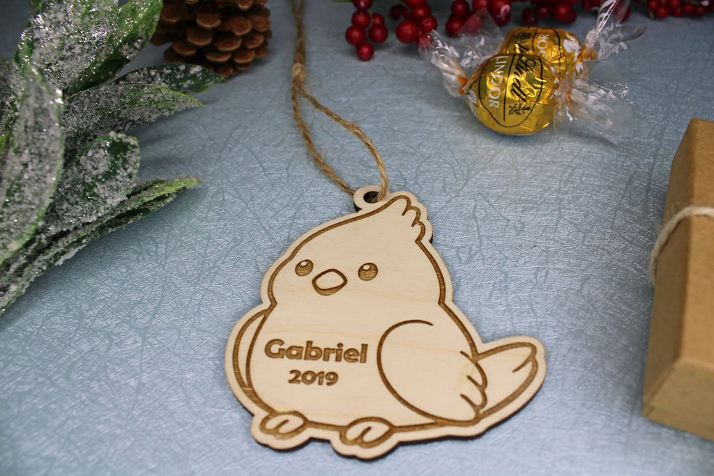 Cockatiel Bird Christmas Ornament, Personalized