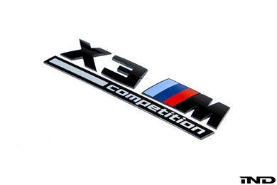 Logo de malle Brillant Noir BMW F97 X3M Competition - Europe BM Shop