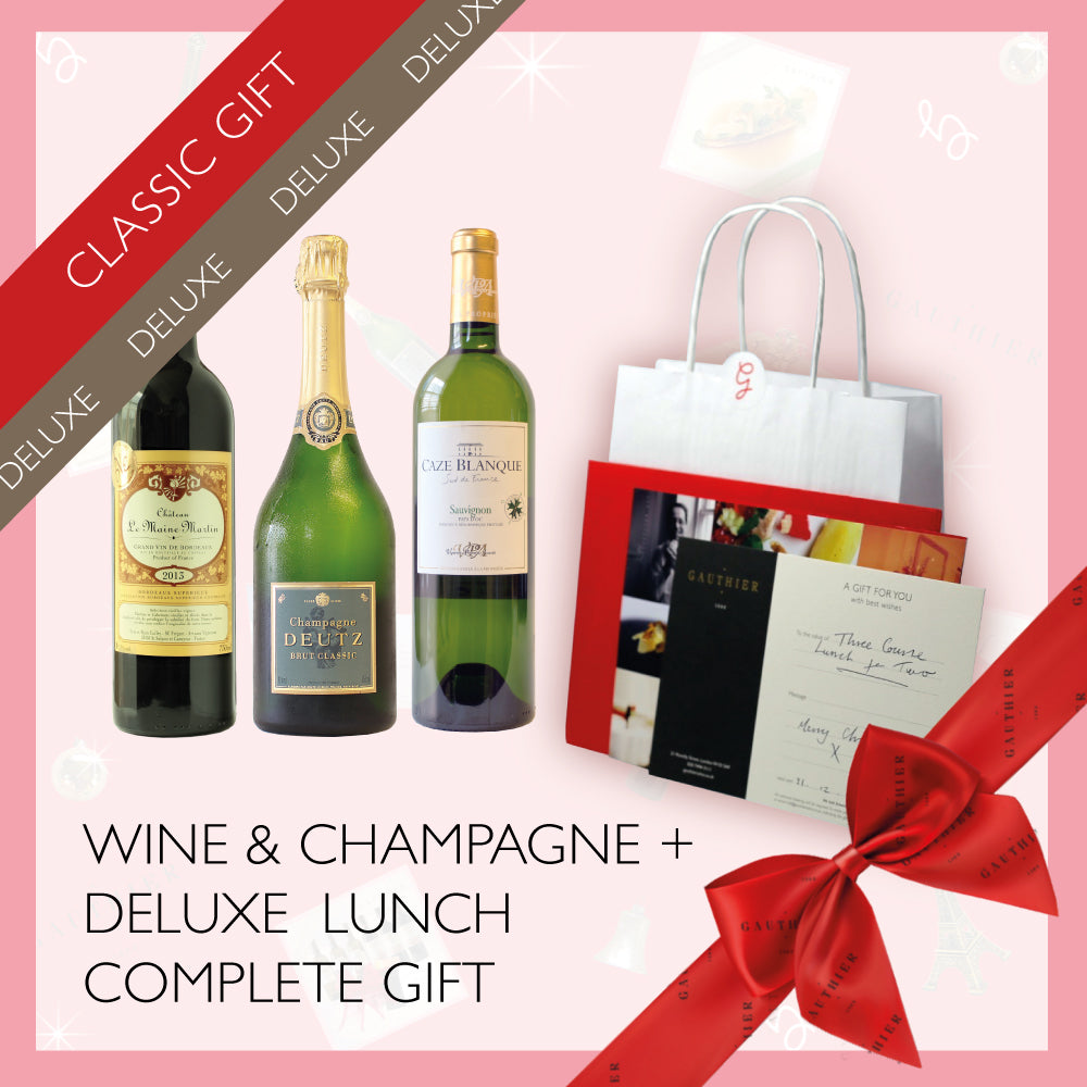 Deluxe Lunch for Two + 3x Wines Gift Box
