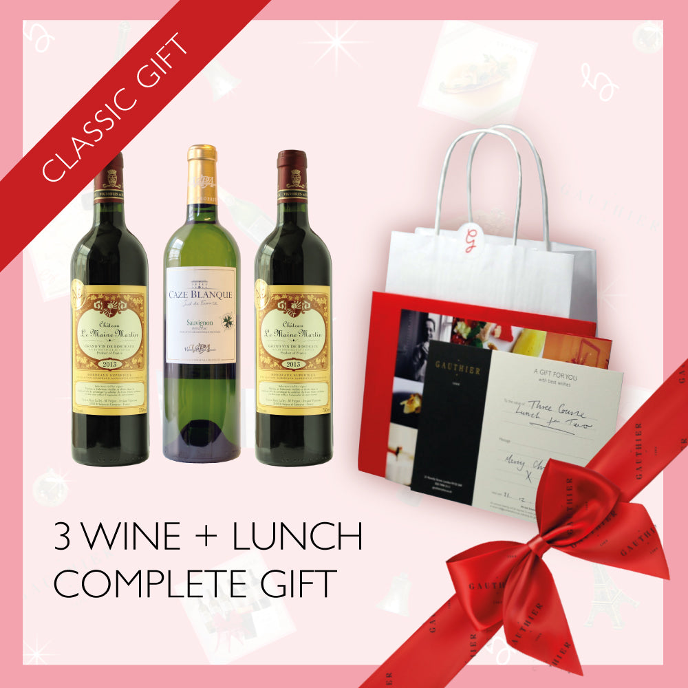 Lunch for Two + 3x Wines Gift Box