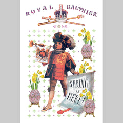 'Royal Gauthier' Spring 2018 Menu Print