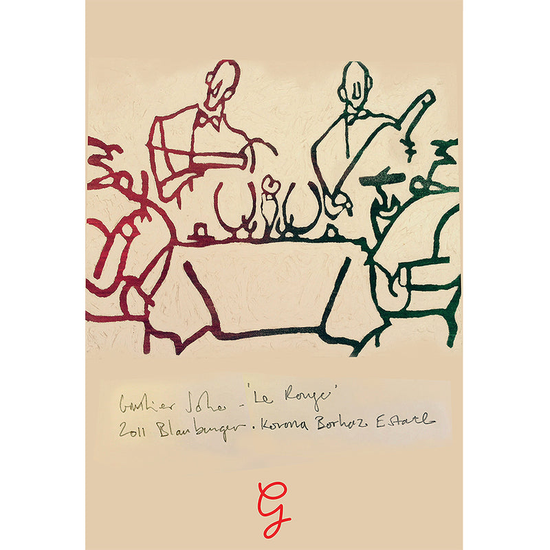 'Waiters and Guests' Signed Print