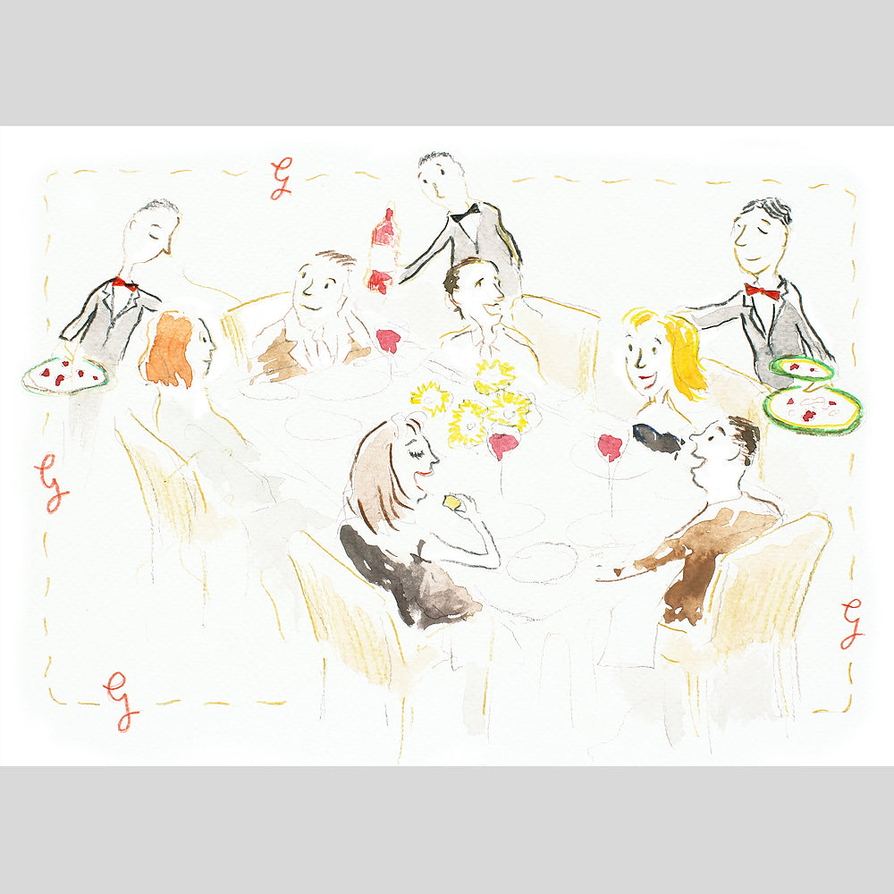 'Dinner Party' Signed Print