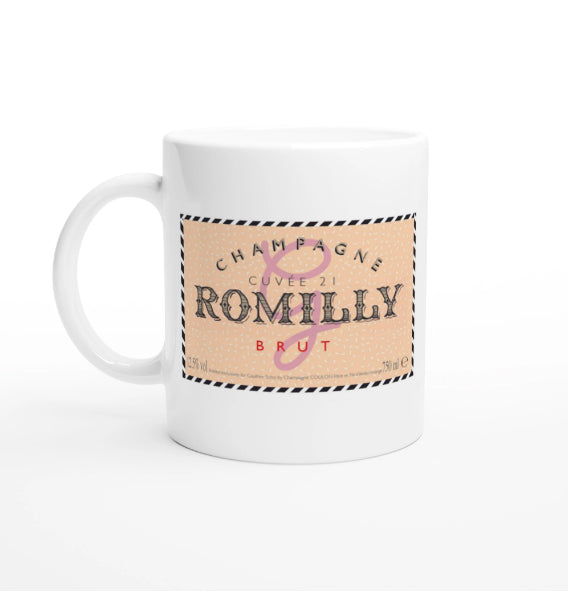 Gauthier 'Champagne Romilly Cuvée 21' White Ceramic Mug