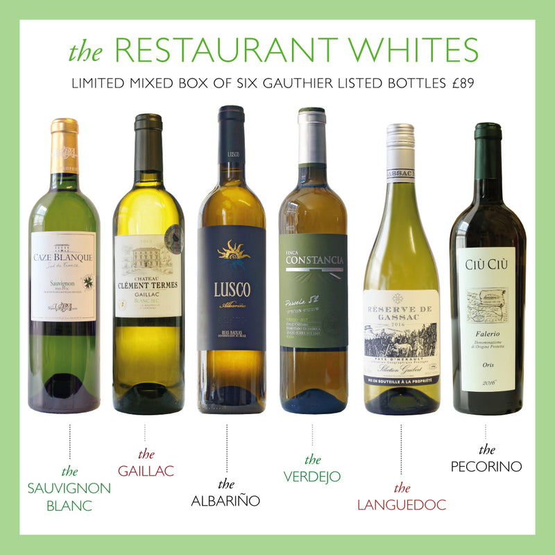 Restaurant Whites Mixed Box - Case of 6 + 3 course Lunch OFFER