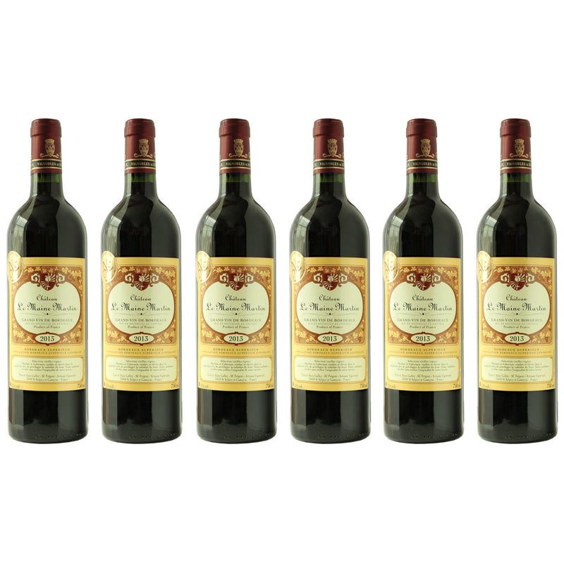 6x Chateau Le Maine Martin Bordeaux 2013