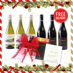 Christmas Mixed Box: 6x Gassac + 3 Course Lunch Lunch for 2