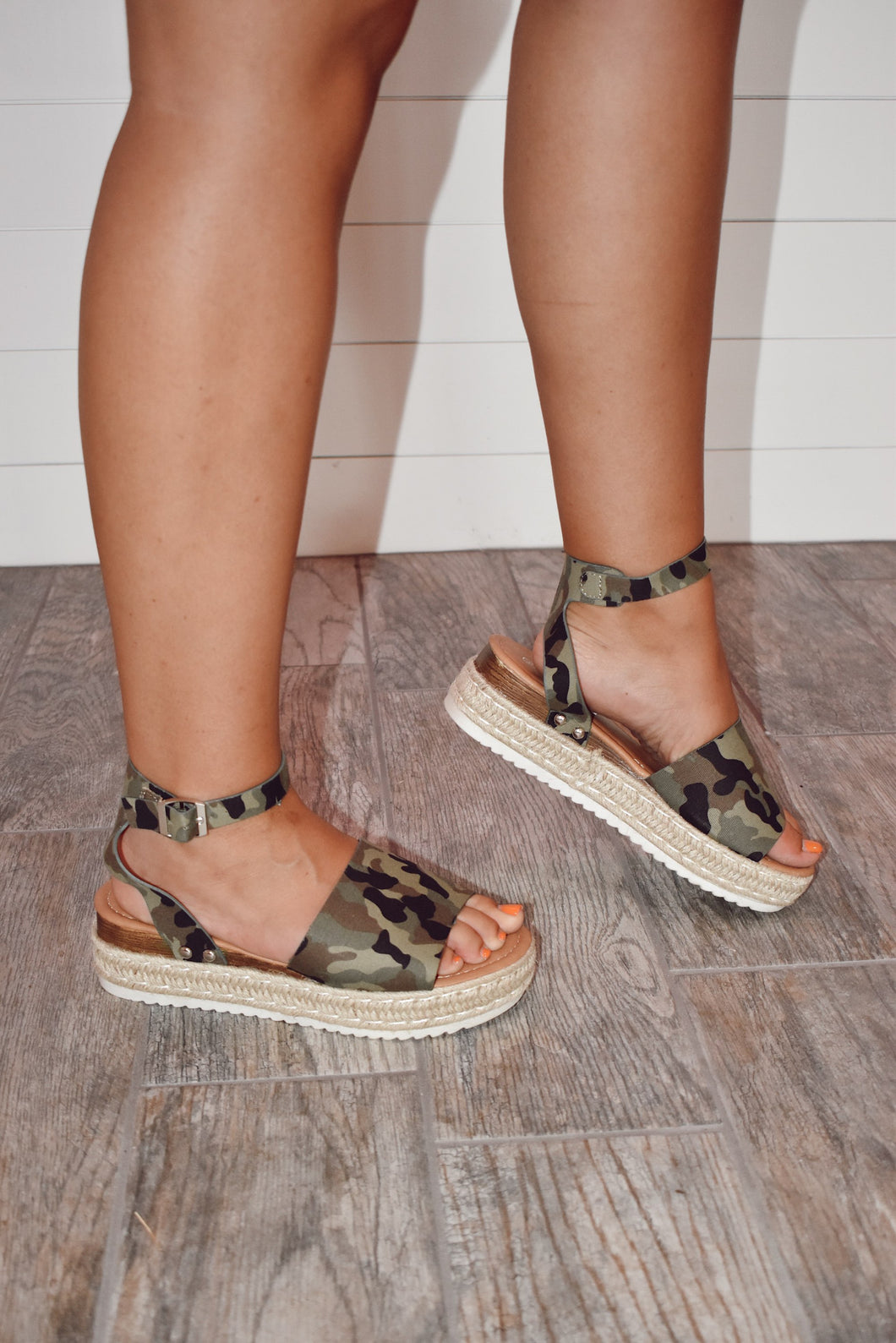Camo Is The New Neutral - Platform Sandal