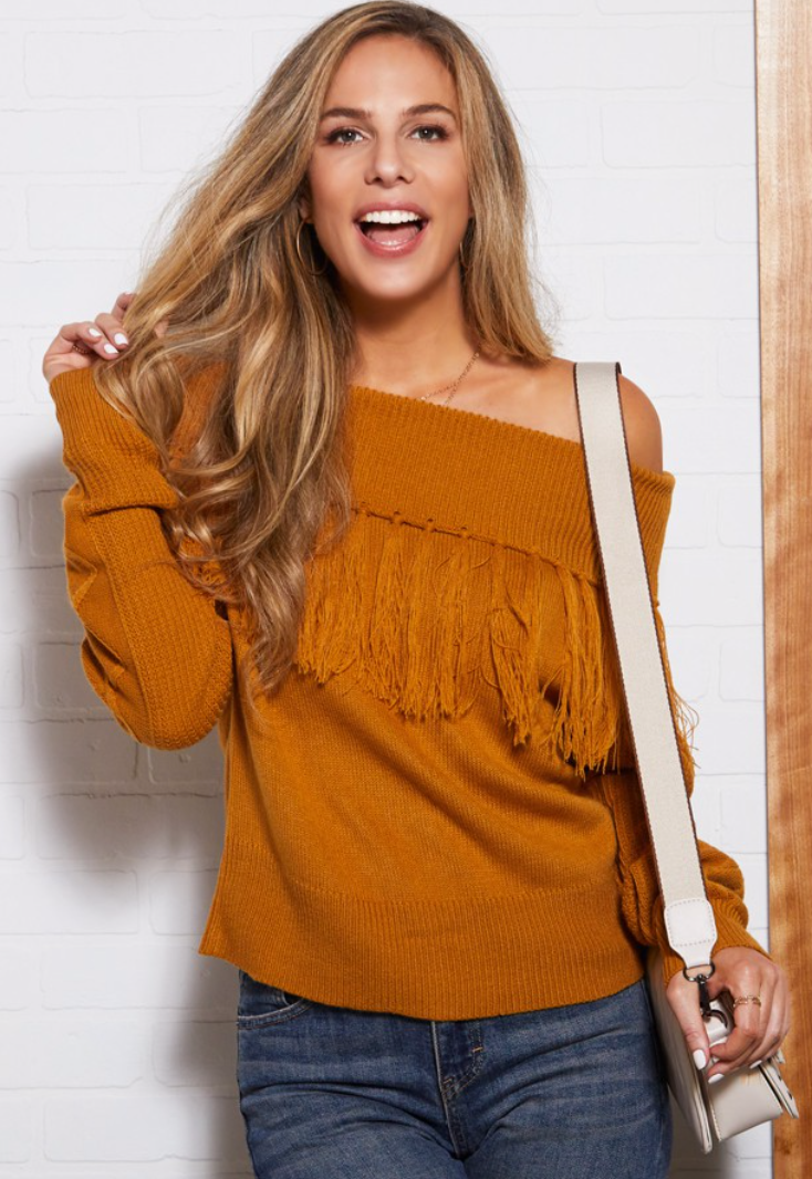 Free Me Fringe Sweater