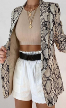 Load image into Gallery viewer, Snake Print Blazer