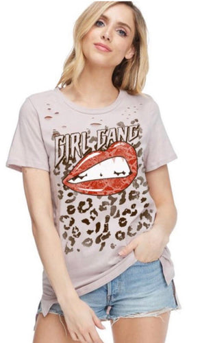 Girl Gang Distressed Graphic
